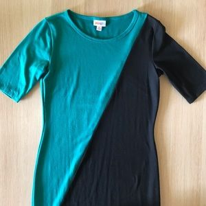 Lularoe Julia teal and black dress